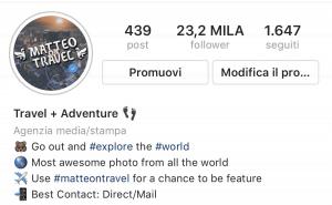 Biografia Instagram